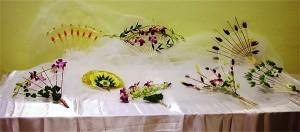 ślubne wachlarze kwiatowe