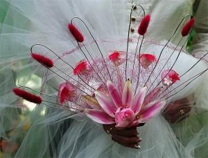 różowy wachlarz ślubny