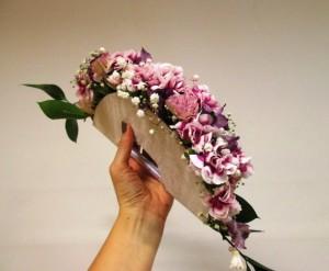 Wachlarz ślubny fioletowy
