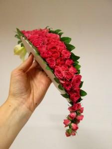 Wachlarz ślubny z róż