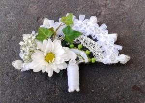 Wachlarz ślubny z kwiatem
