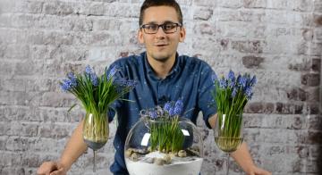 Dekoracja wiosenna w szklanej kuli