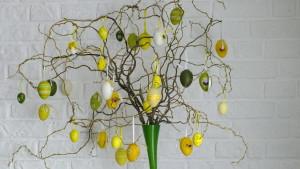 wielkanocne drzewko - dekoracja dla domu