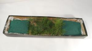 dekoracja stołu kwiatowe sushi - poszycie z asparagusa