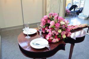 targi florystyczne dekoracja kwiatowa na stół