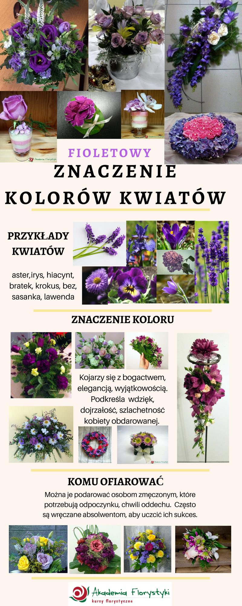 znaczenie kolorów kwiatów - kwiaty fioletowe