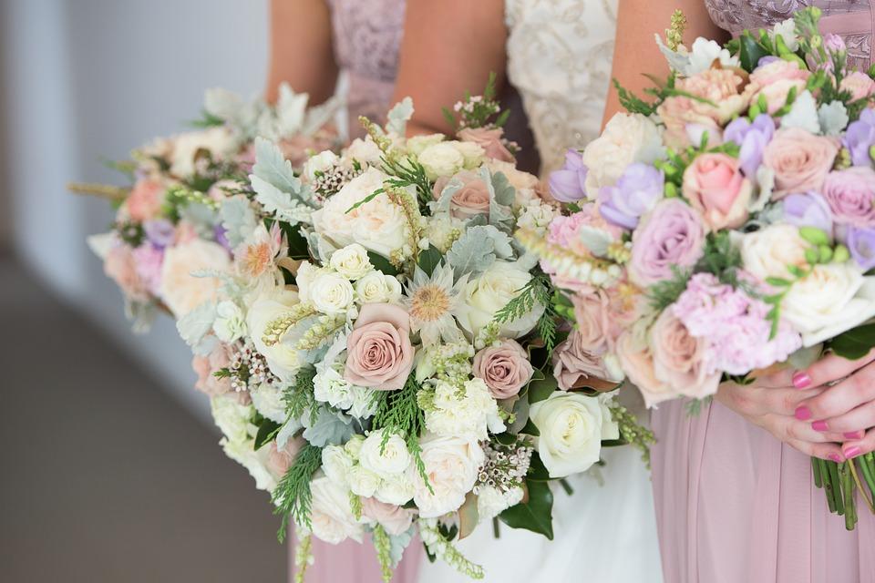 bukiet ślubny - tradycyjny