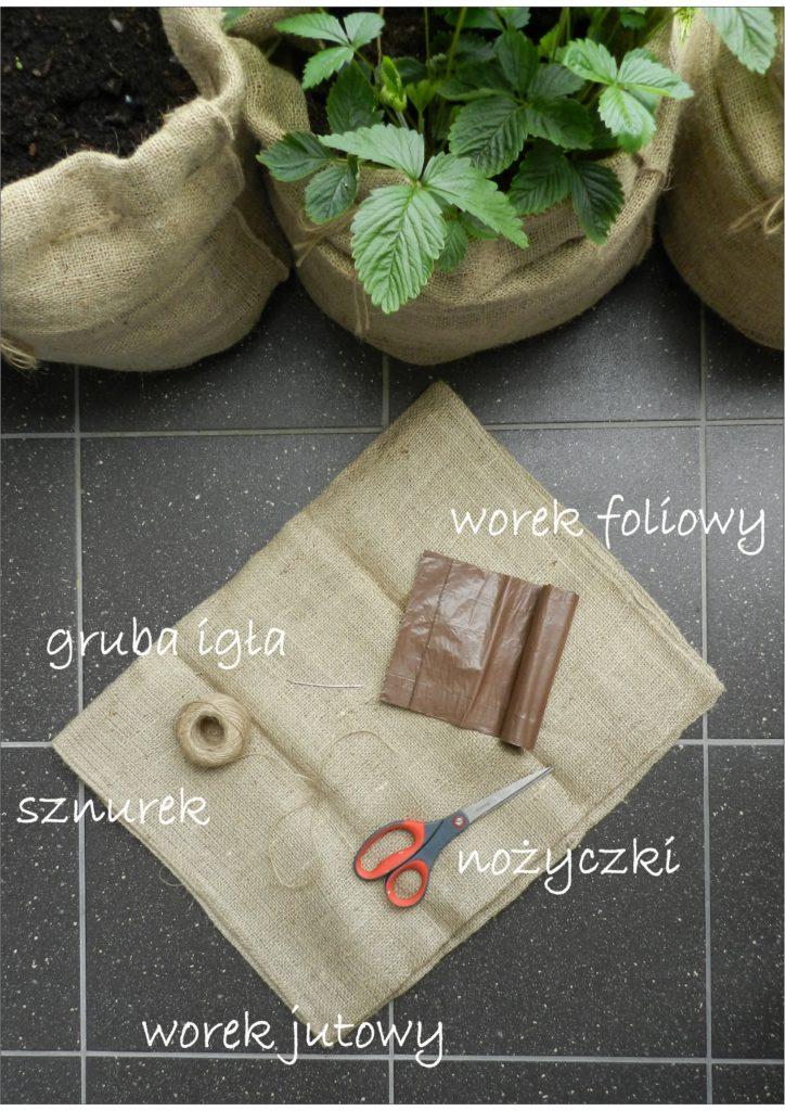 donice jutowe - materiały