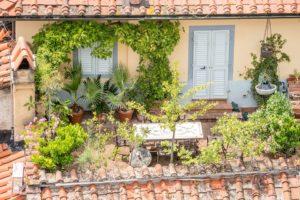 balkon-zielona aranżacja