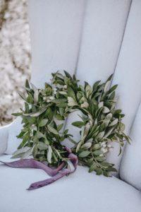 kwiatowa ściana - zielony wianek