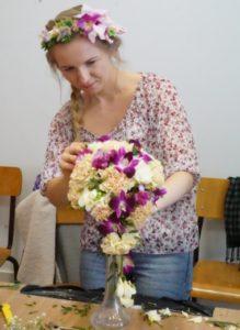 warsztaty florystyczne na żywych kwiatach