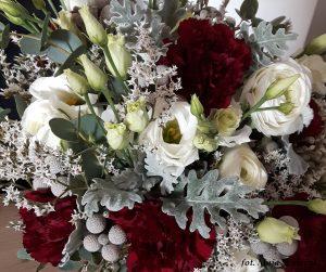 zimowy ślub - liście mroza