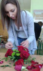 Florysta Rzeszów - kursantka przy pracy