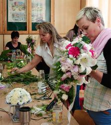 Florystki w trakcie nauki