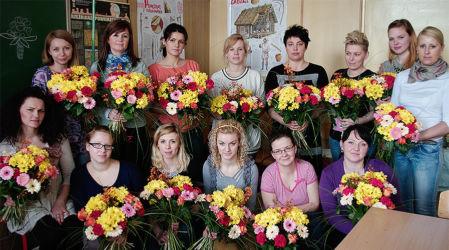 Florystyka Gdańsk - grupa na koniec kursu