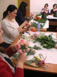 Kurs florystyczny - praca na kursie
