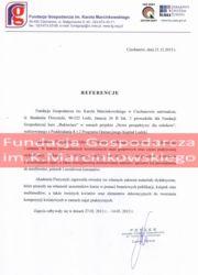 Referencje kurs florystyczny -Fundacja Gospodarcza Ciechanów