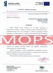 Referencje kurs florystyczny - MOPS Konstantynów Łódzki