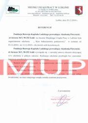 Referencje kurs florystyczny - MUP Lublin