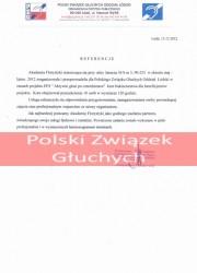Referencje kurs florystyczny - Polski Związek Głuchych Łódź
