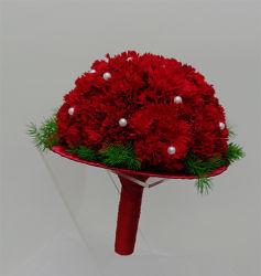 bukiet ślubny biedermeier czerwony