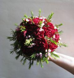 bukiet ślubny okrągły