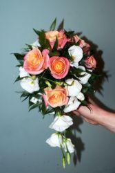 Bukiet ślubny różowo-biały