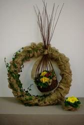 florystyczny wianek wielkanocny