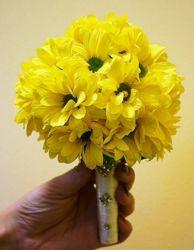 ślubny bukiet okrągły żółty