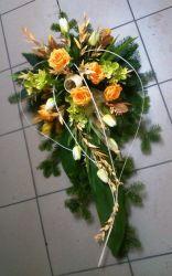 Wiązanka nagrobna pomarańczowo-żółta
