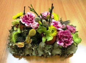 wielkanocna dekoracja florystyczna