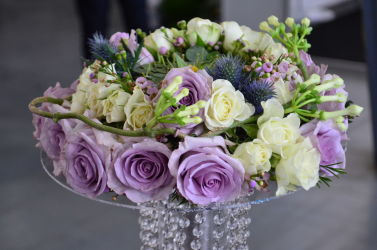 bukiet ślubny fioletowo-biały - Special Days 2016