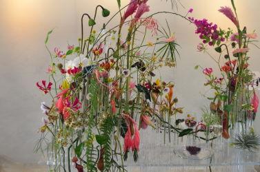 targi florystyczne dekoracja różowa konkurs