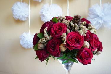 czerwone-róże-wiązanka-ślubna-kraków